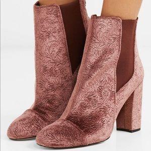 Sam Edelman Mauve velvet boots